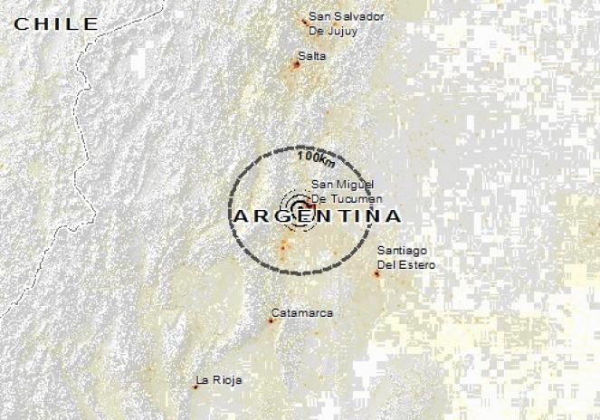 Scossa di terremoto a San Isidro de Lules, Argentina