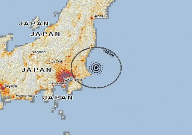 Scossa di terremoto a Kashima-shi, Giappone