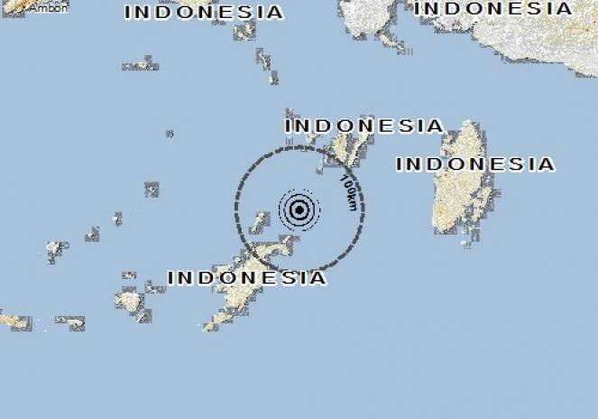 Scossa di terremoto a Langgur, Indonesia