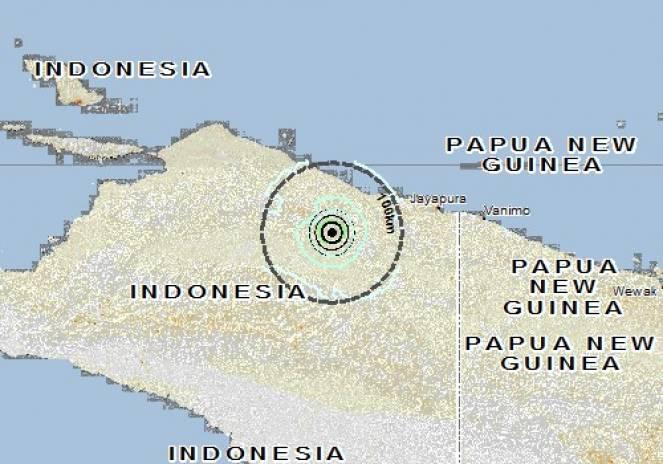 Scossa di terremoto a Guay, Indonesia
