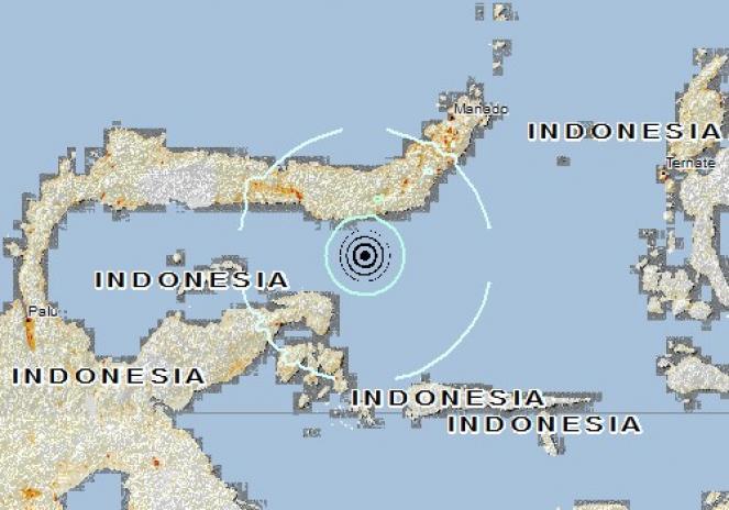 Scossa di terremoto a Molibagu, Indonesia