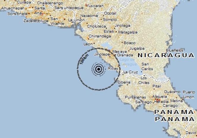 Scossa di terremoto a San Rafael del Sur, Nicaragua