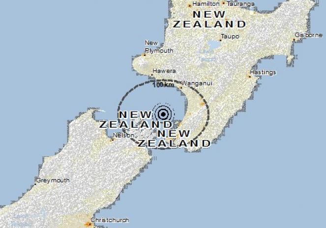Scossa di terremoto a Paraparaumu, Nuova Zelanda