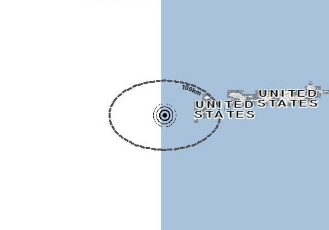 Scossa di terremoto a Amchitka Island, Stati Uniti d'America