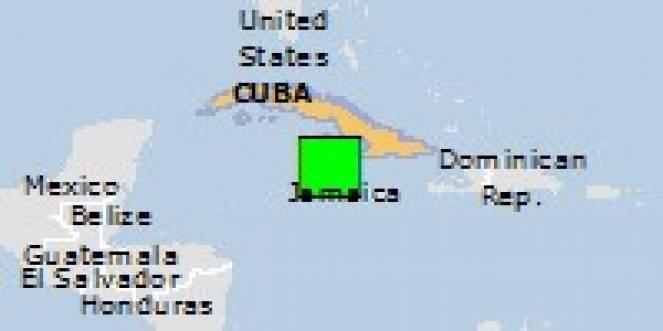 Scossa di terremoto a Lucea, Giamaica