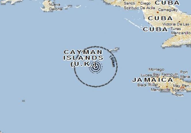 Scossa di terremoto a East End, Isole Cayman