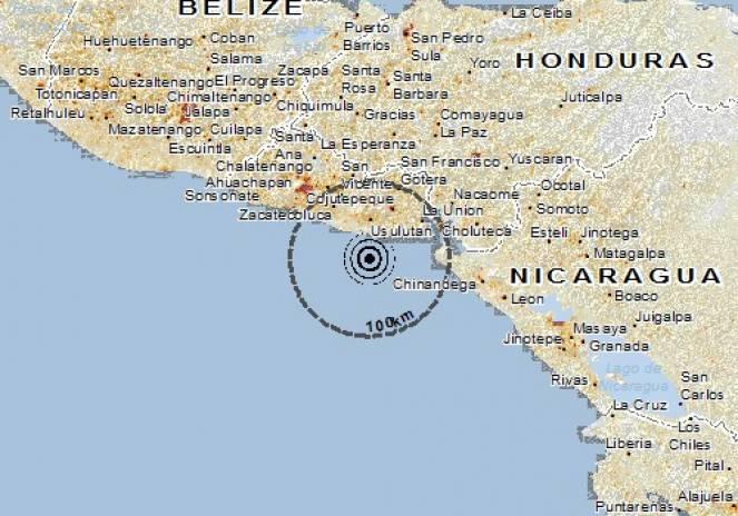 Scossa di terremoto a Puerto El Triunfo, El Salvador