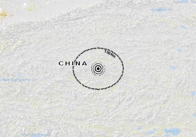 Scossa di terremoto a Nyima Xian, Repubblica Popolare di Cina