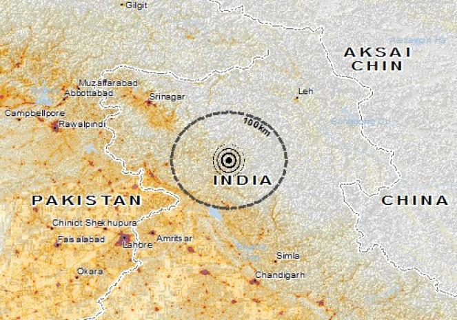 Scossa di terremoto a Chamba, India