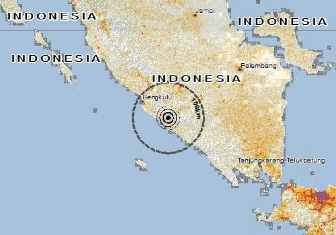 Scossa di terremoto a Tanjungsakti, Indonesia