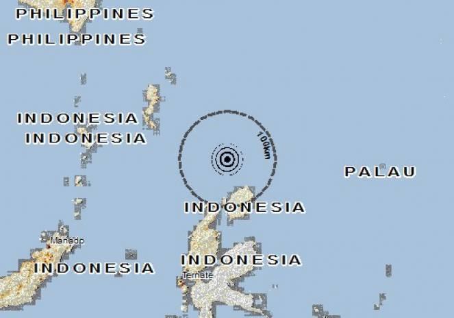 Scossa di terremoto a Morotai Island, Indonesia