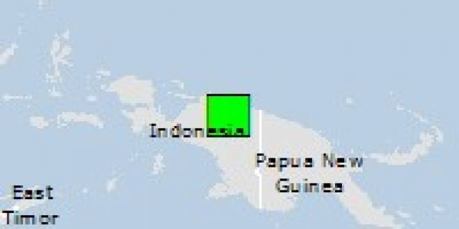 Scossa di terremoto a Dabra, Indonesia