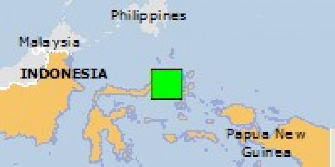 Scossa di terremoto a Susupu, Indonesia