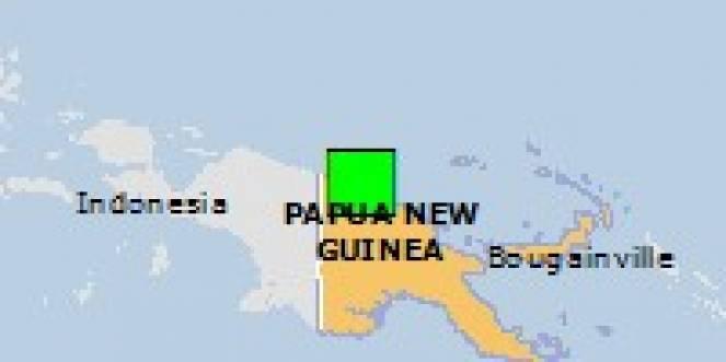Scossa di terremoto a Aitape, Papua-Nuova Guinea