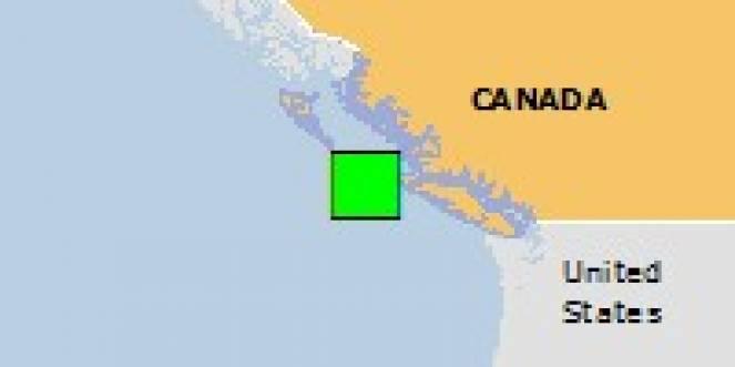 Scossa di terremoto a Cape Scott, Canada