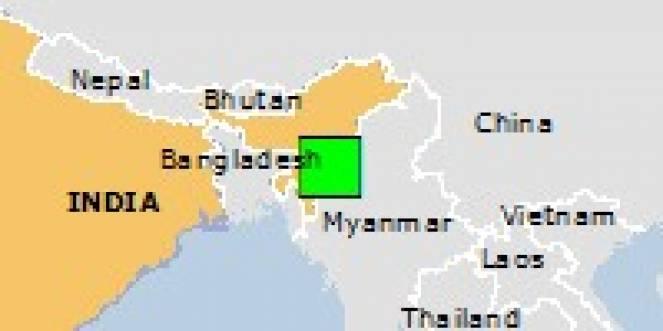 Scossa di terremoto a Kakching, India