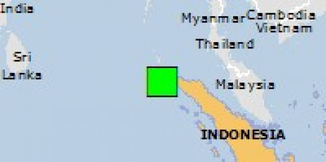 Scossa di terremoto a Lhoong, Indonesia