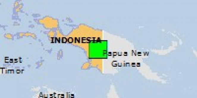 Scossa di terremoto a Oksibil, Indonesia