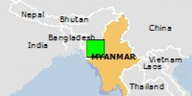 Scossa di terremoto a Hakha, Myanmar