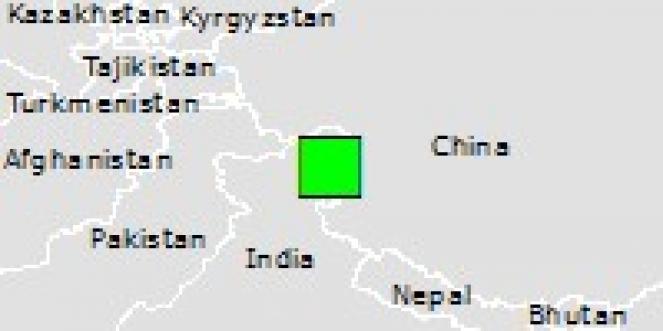 Scossa di terremoto a Rutog, Repubblica Popolare di Cina