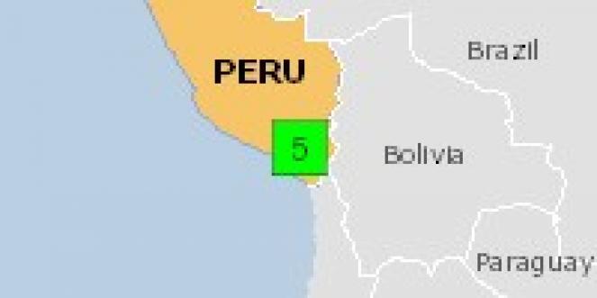 Scossa di terremoto a Ubinas, Perù