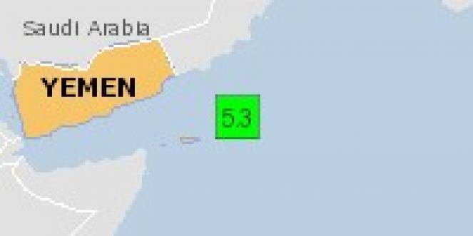 Scossa di terremoto a Hadibu, Yemen