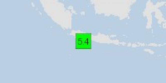 Scossa di terremoto a Cipatujah, Indonesia