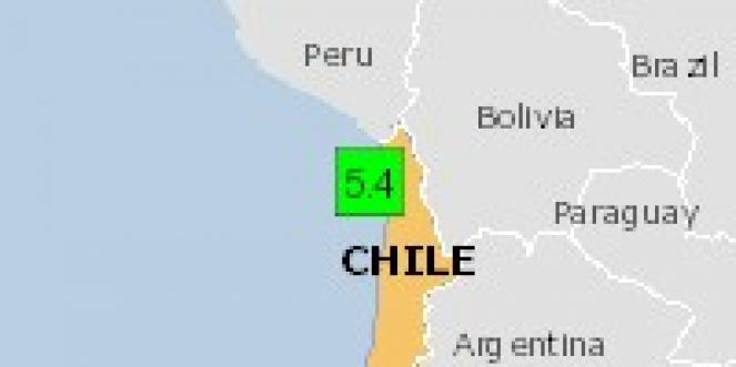 Scossa di terremoto a Iquique, Cile