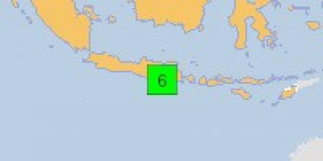 Scossa di terremoto a Bantur, Indonesia