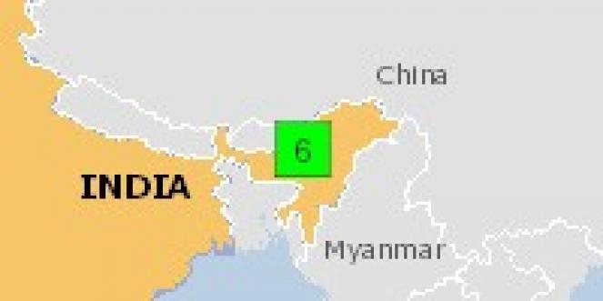 Scossa di terremoto a Dhekiajuli, India