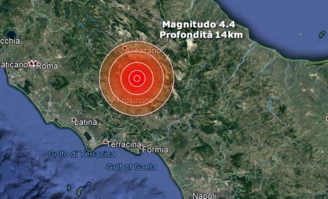 Terremoto Abruzzo, forte scossa di magnitudo 4.4 avvertita fino a Roma
