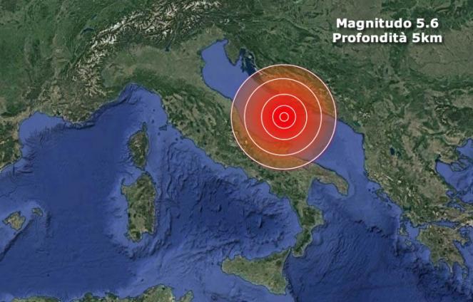 Terremoto in Mar Adriatico, scossa oltre magnitudo 5