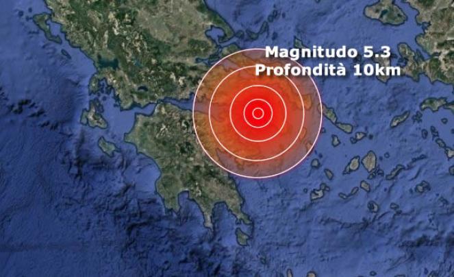 Terremoto Grecia forte scossa vicino Atene