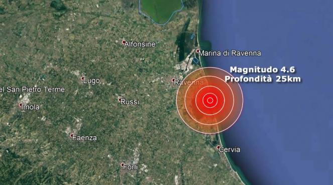 Terremoto in Emilia Romagna Magnitudo 4.6