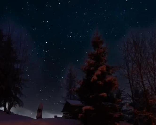 Timpelapse del cielo notturno sulle Alpi