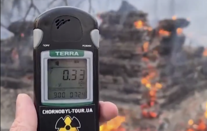 Incendi vicino a Chernobyl, picco di radiazioni