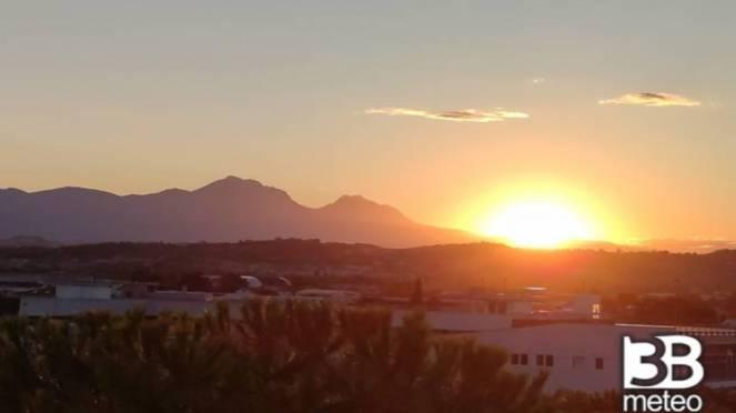 tramonto su Pescara (foto da gallery 3bmeteo)