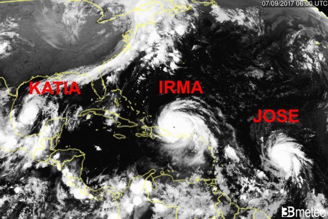 Uragano Irma, l'occhio del ciclone visto dall'alto