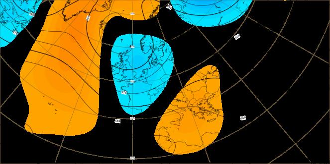 Ultima decade di luglio. Le anomalie dell'altezza di geopotenziale. ECMWF