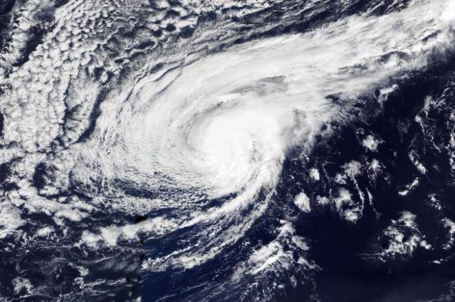 Ultima immagine dell'uragano Leslie in Atlantico