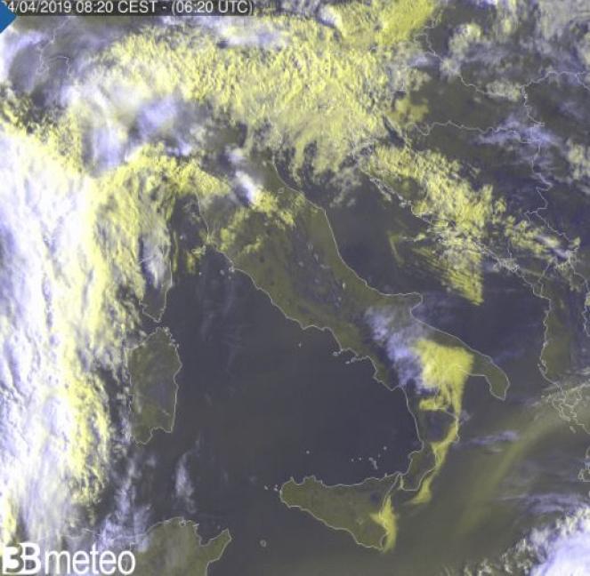 Ultima immagine satellitare rielaborata da 3bmeteo