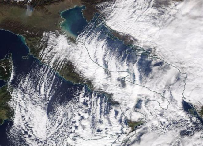 Un esempio di Adriatic Effect Snow avutosi il 6 gennaio 2017