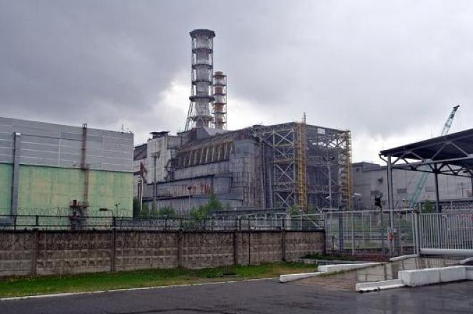 Una centrale nucleare in un'immagine di archivio