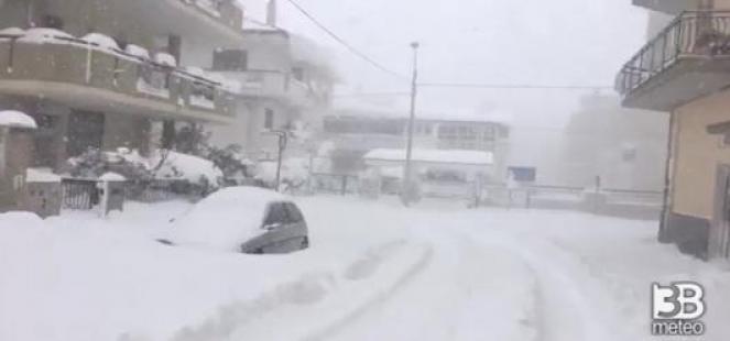 Una recente nevicata in Puglia