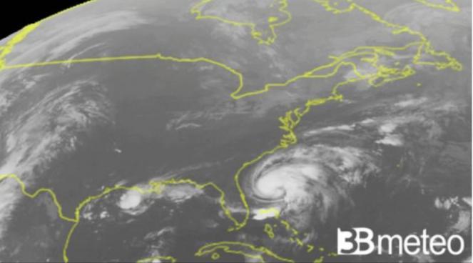 uragano in Atlantico, immagine di repertorio