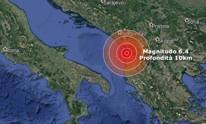 Violento terremoto in Albania vicino Durazzo e Tirana