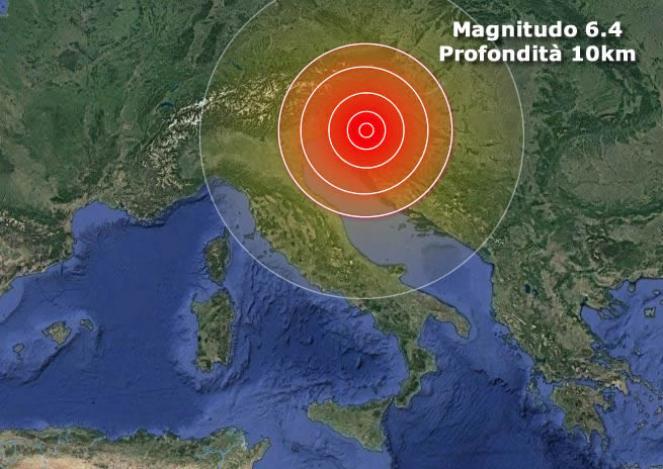 Violento terremoto in Croazia magnitudo 6.4 vicino Zagabria
