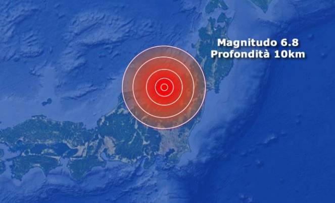 Forte scossa di terremoto in Giappone, allerta tsunami