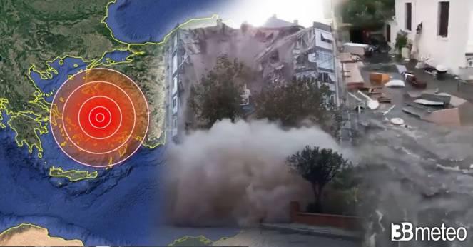 Violento terremoto in Grecia