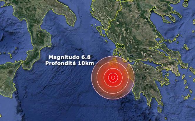 Terremoto 6.8 al largo della Grecia, sisma avvertito anche nel Sud Italia